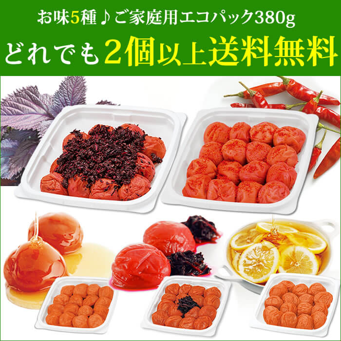 料理にも♪梅干しでアレンジいろいろ!ご家庭用エコパック380g