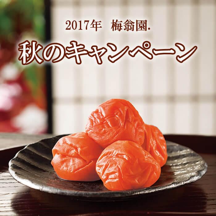 2017年 梅翁園. お中元キャンペーン♪